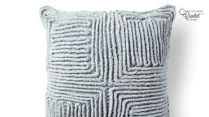 Crochet Swirling Texture Pillow Pattern