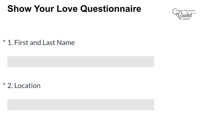 Share the Love Questionaire