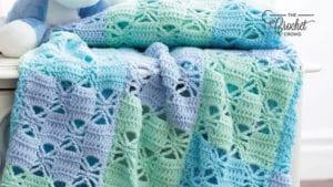 3 Color Block Crochet Blanket