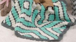 Crochet Baby Diamonds C2C Blanket