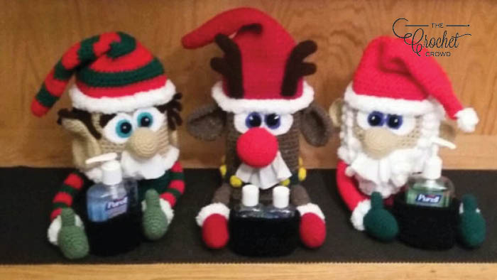 Crochet Free Christmas Sniffle Station Patterns