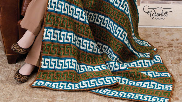 Crochet Greek Key Blanket
