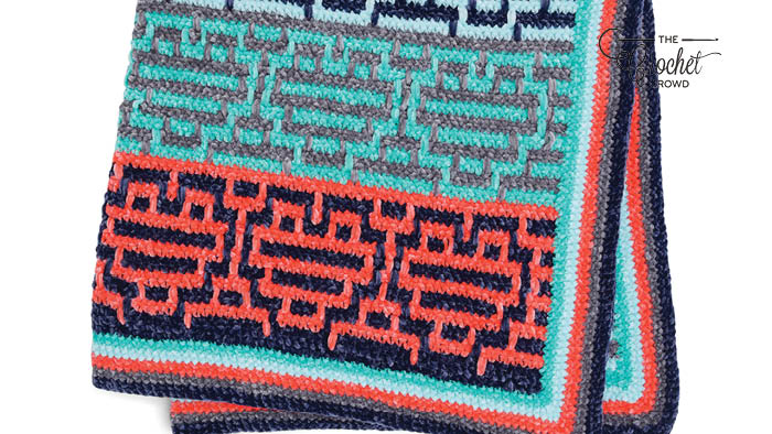 Crochet Heart Mosaic Baby Blanket