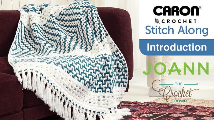 JOANN Spring Stitch Along Crochet Mosaic Blanket