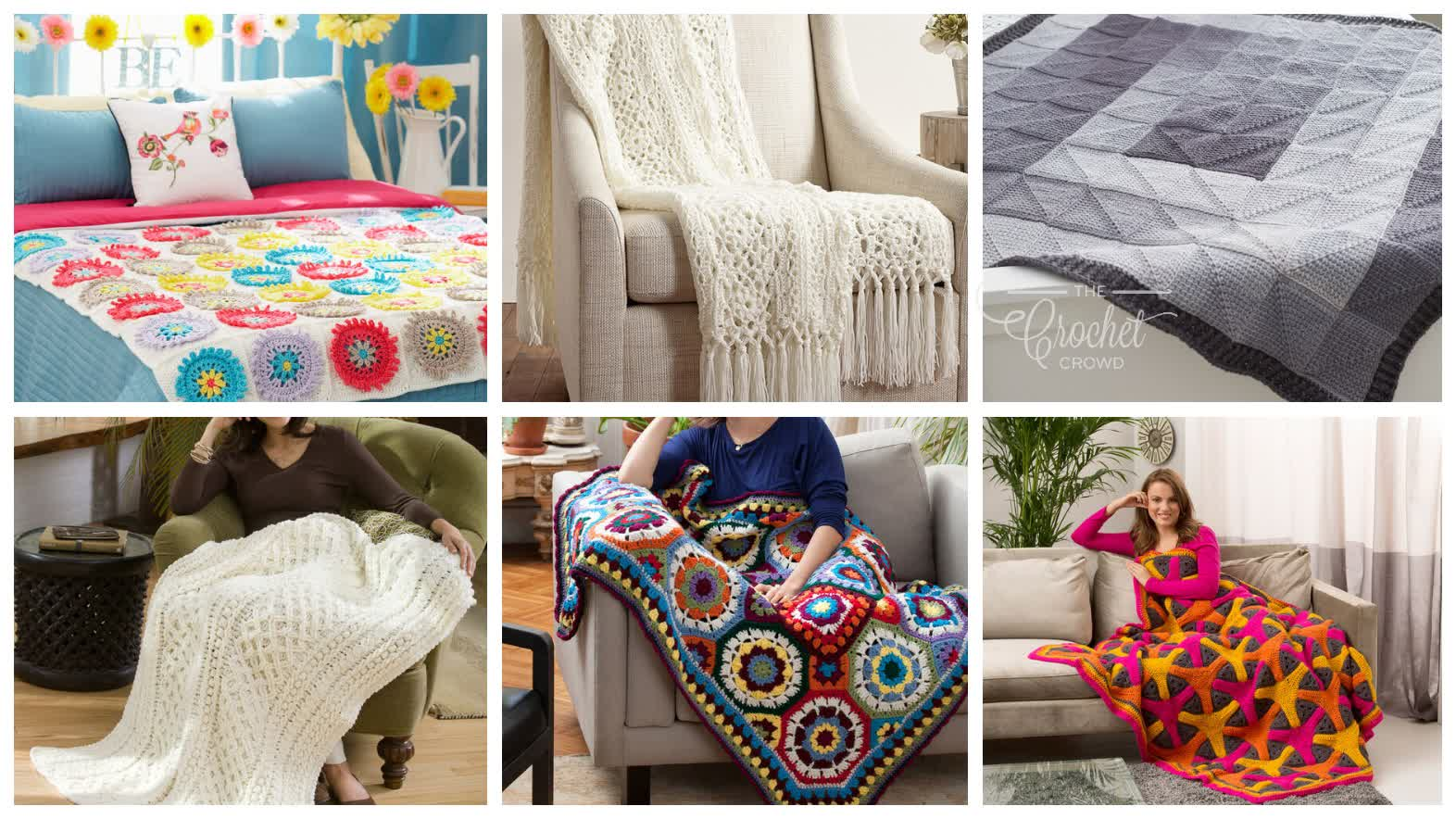 6 Crochet Blanket Idea Patterns