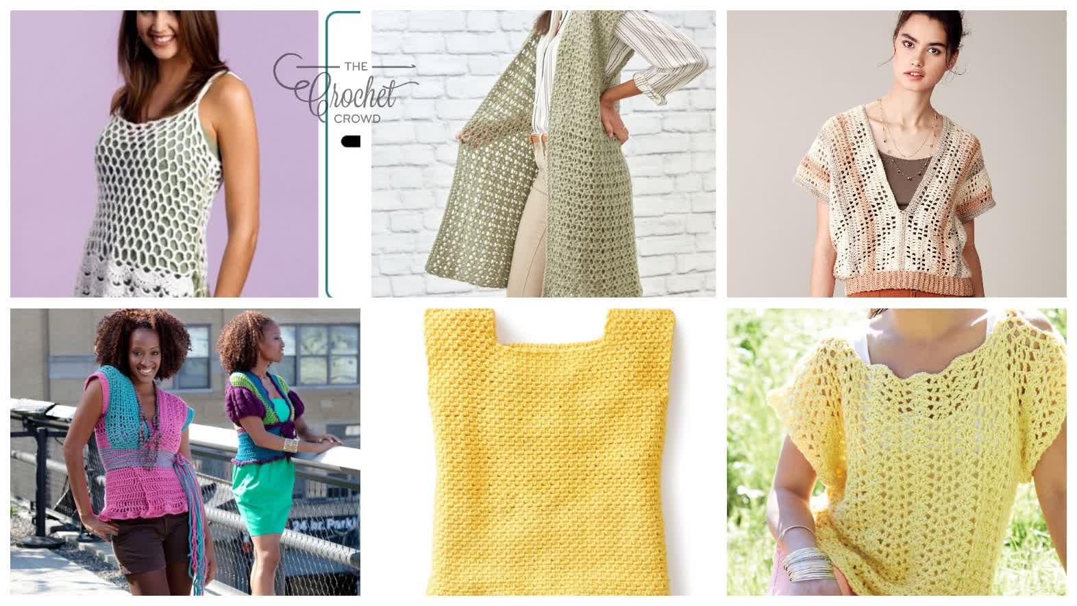 6 Crochet Summer Top Patterns