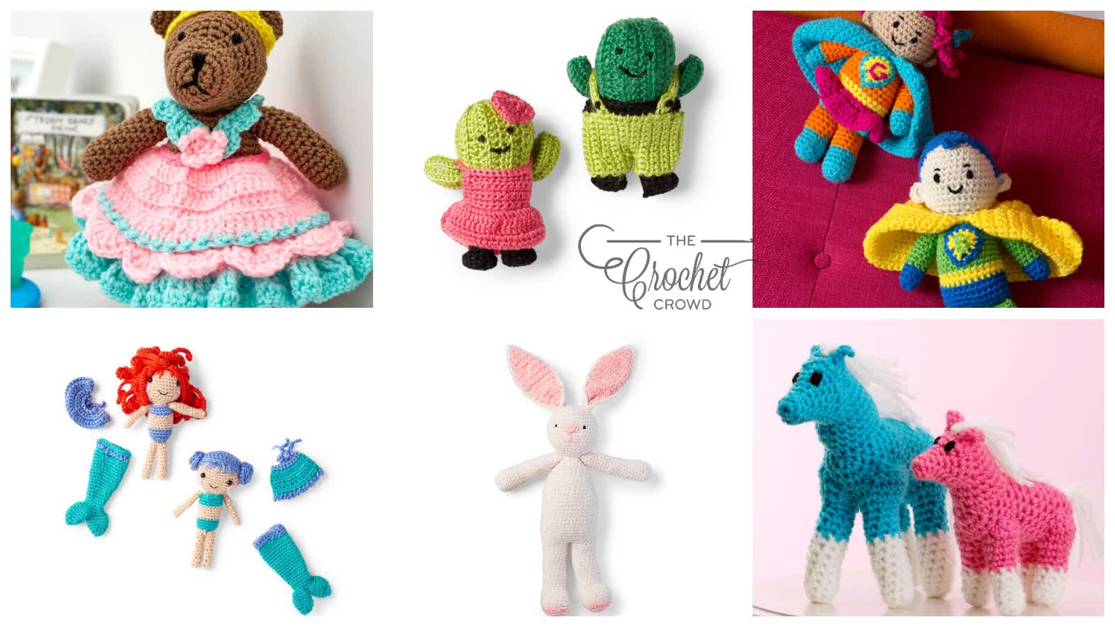 6 Crochet Stuffed with Fun Patterns