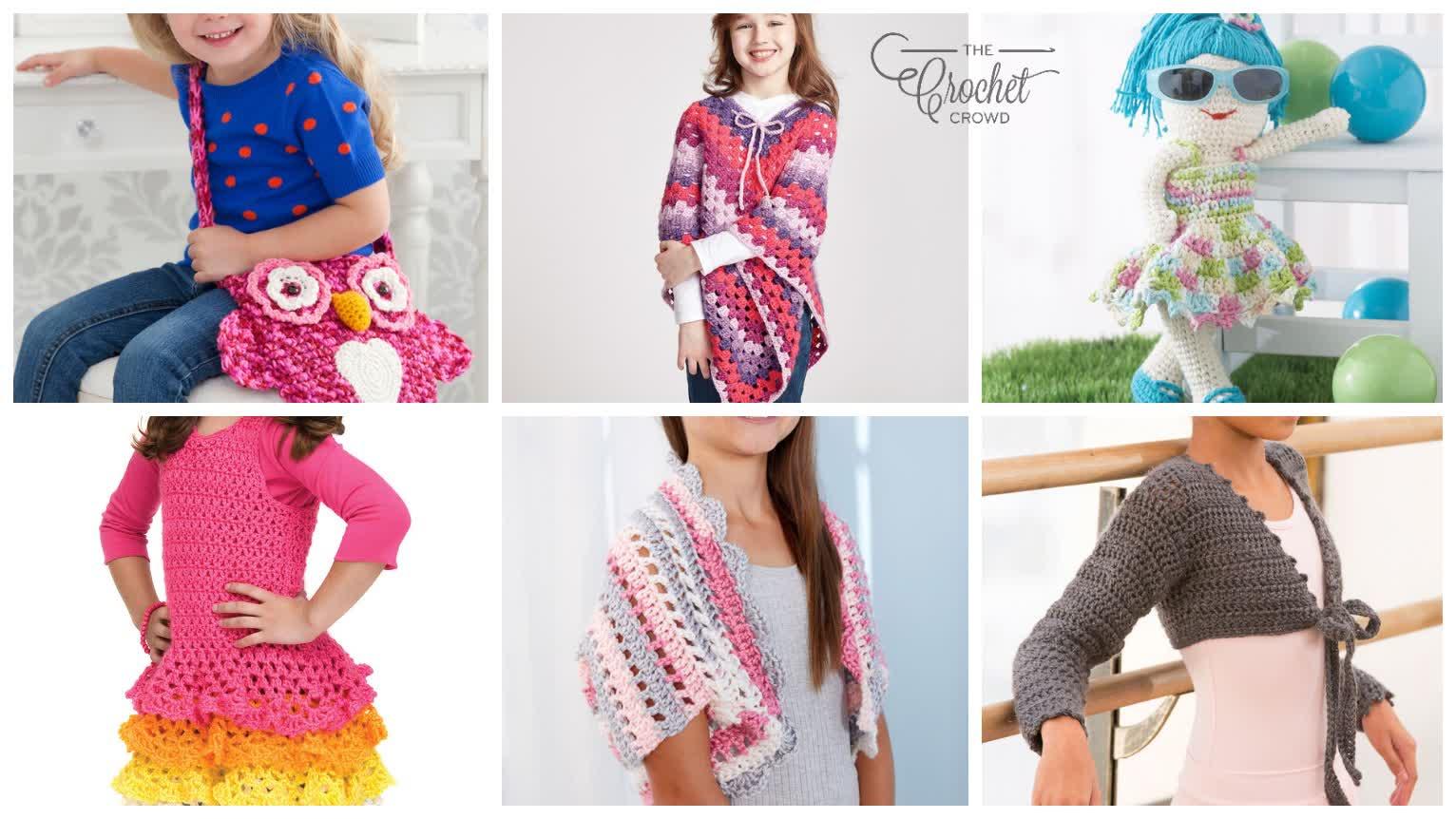 6 Fun Fabulous Crochet Kids Patterns