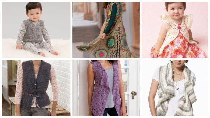 6 Crochet Vest Patterns