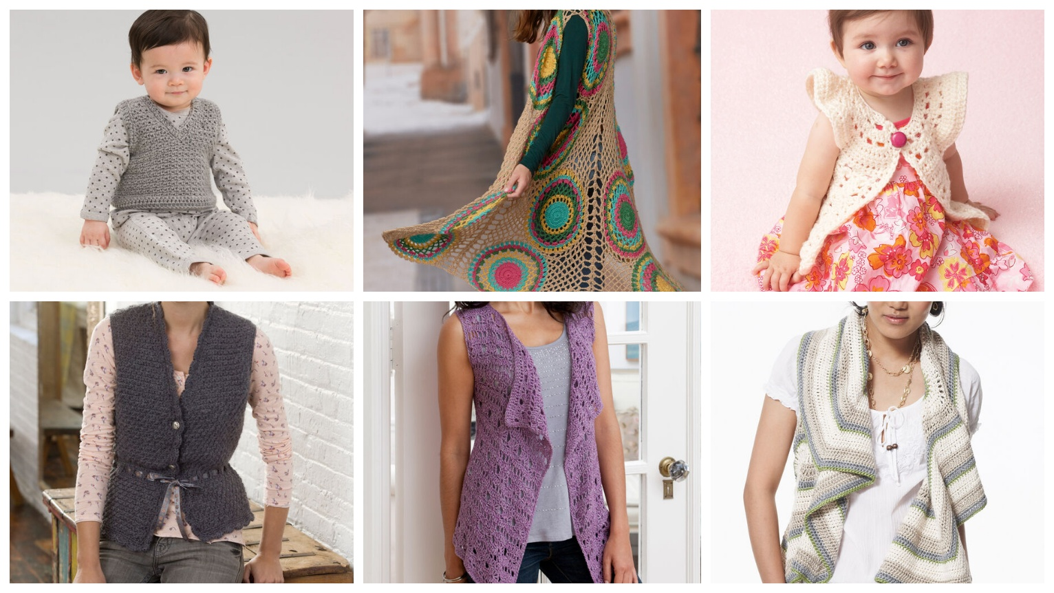 6 Crochet Vest Patterns