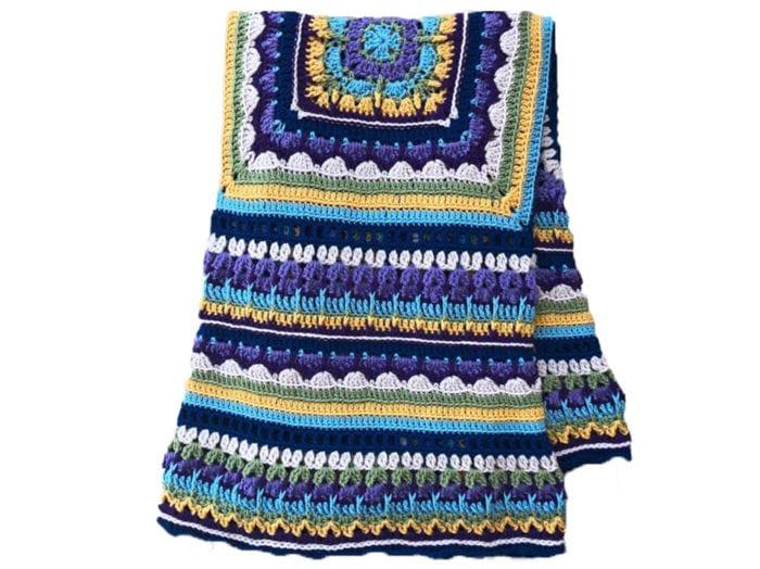 Crochet All In the Family Blanket Folded