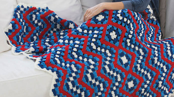 Crochet American Patriotic Blanket Pattern