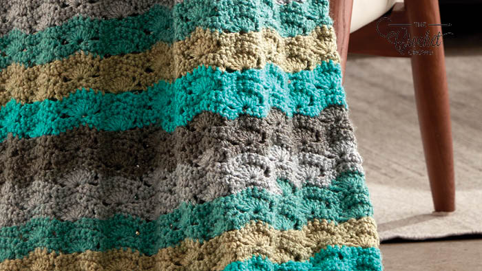 Crochet Caron Cakes Wavy Afghan Pattern