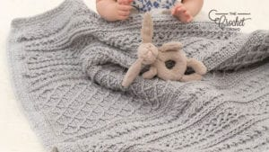 Crochet Cable Your Love Baby Blanket