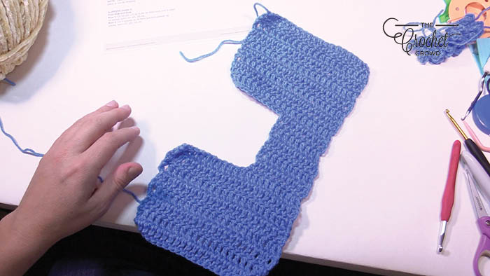 Crochet Double Sole Slippers Before Sewing