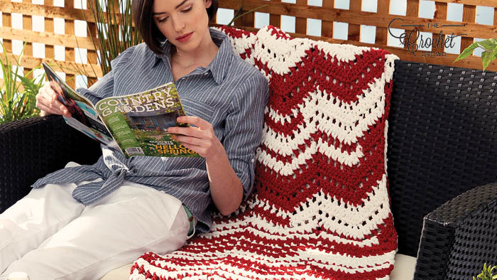 Crochet Ripples in the Sun Afghan