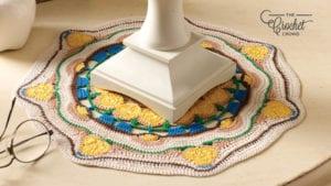 Crochet Sun Blossom Mandala Doily