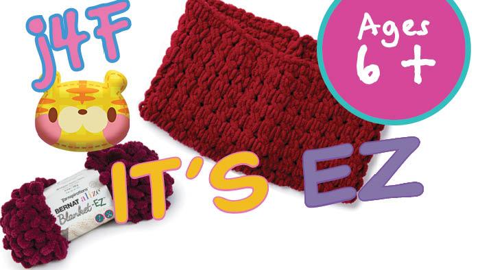 EZ Finger Knit Cable Cowl