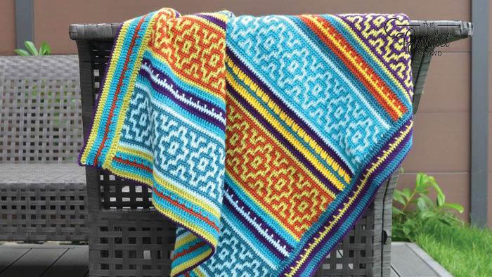 Nya Mosaic Crochet Blanket