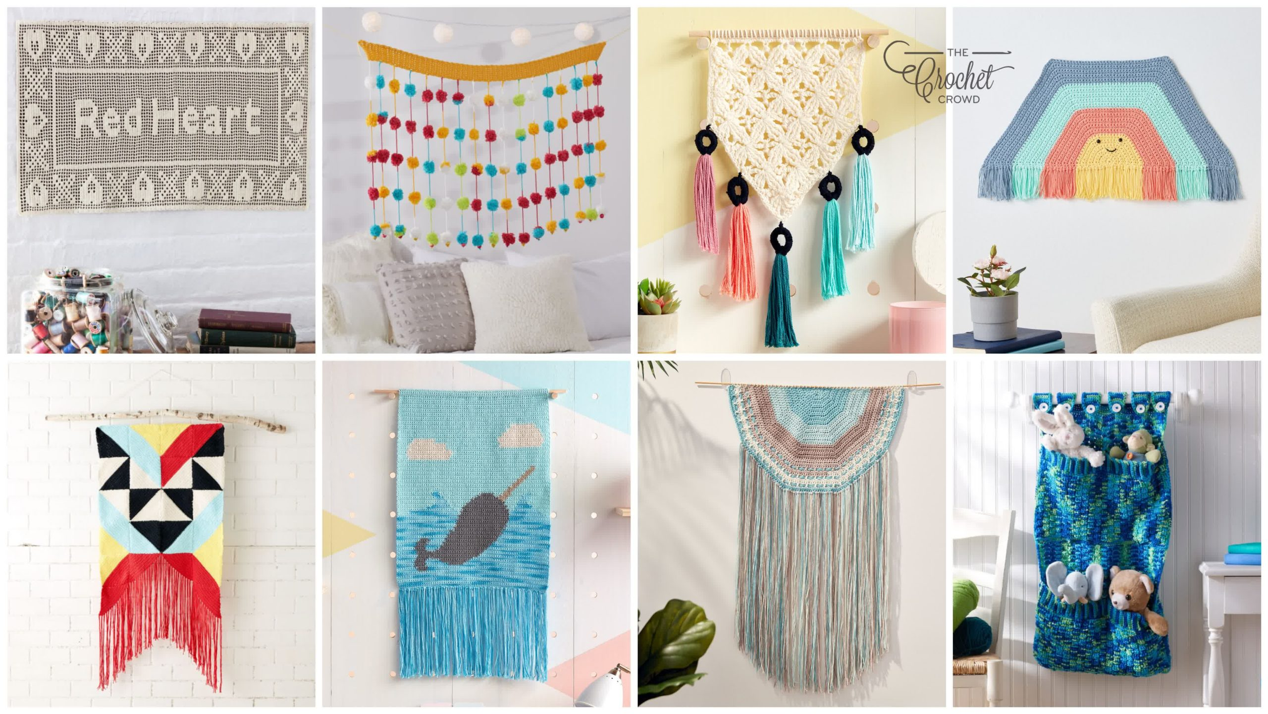 8 Decorative Crochet Wall Hanging Patterns