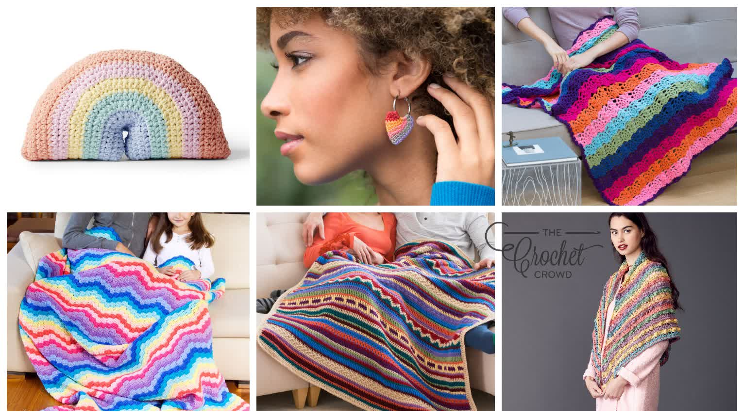 6 Colourful Crochet Creations Patterns