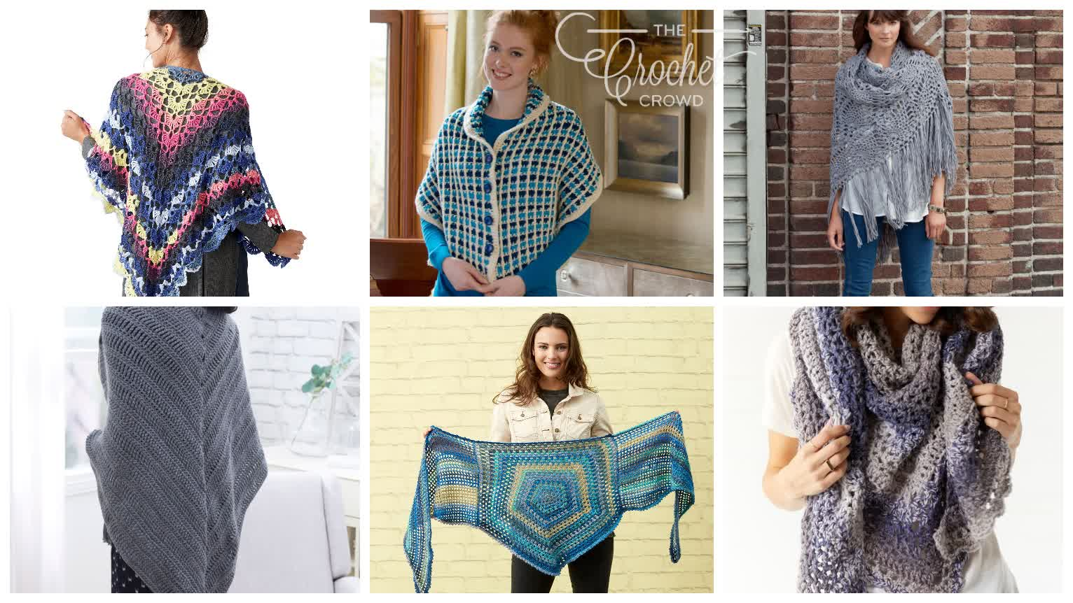 6 Fabulous Crochet Shawl Patterns