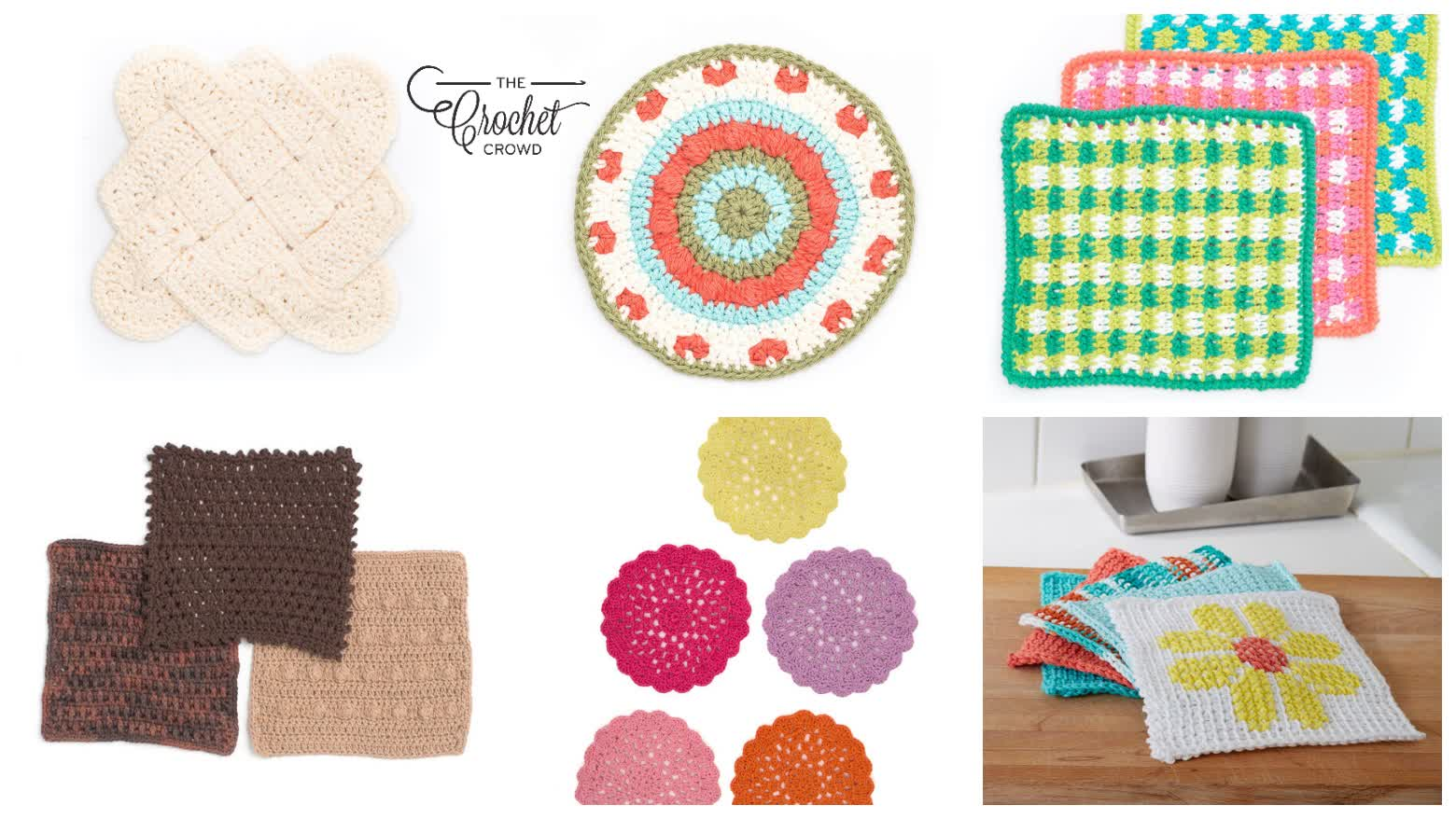 6 Crochet Dishcloth Patterns