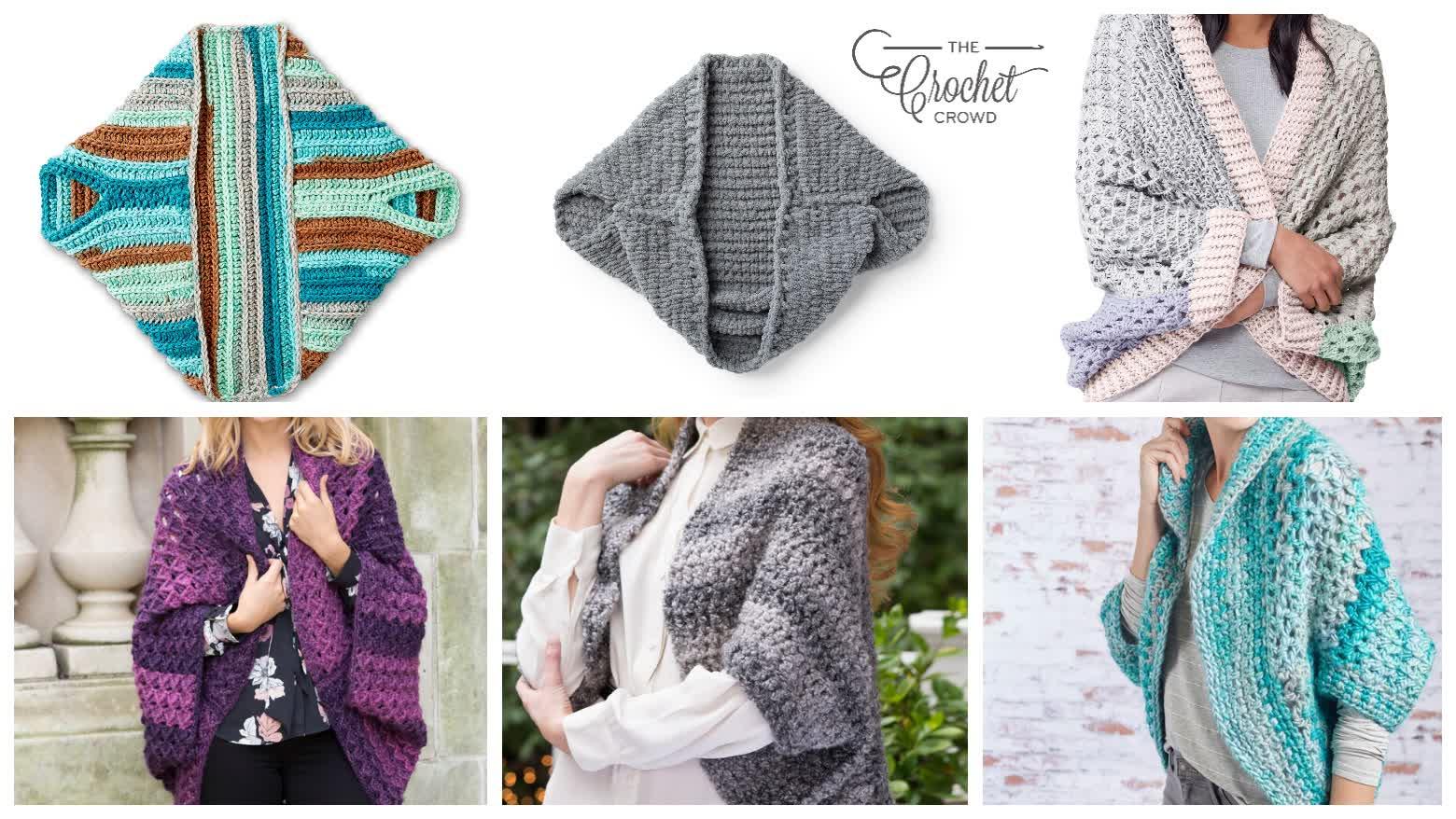 6 Crochet Simple Shrug Patterns