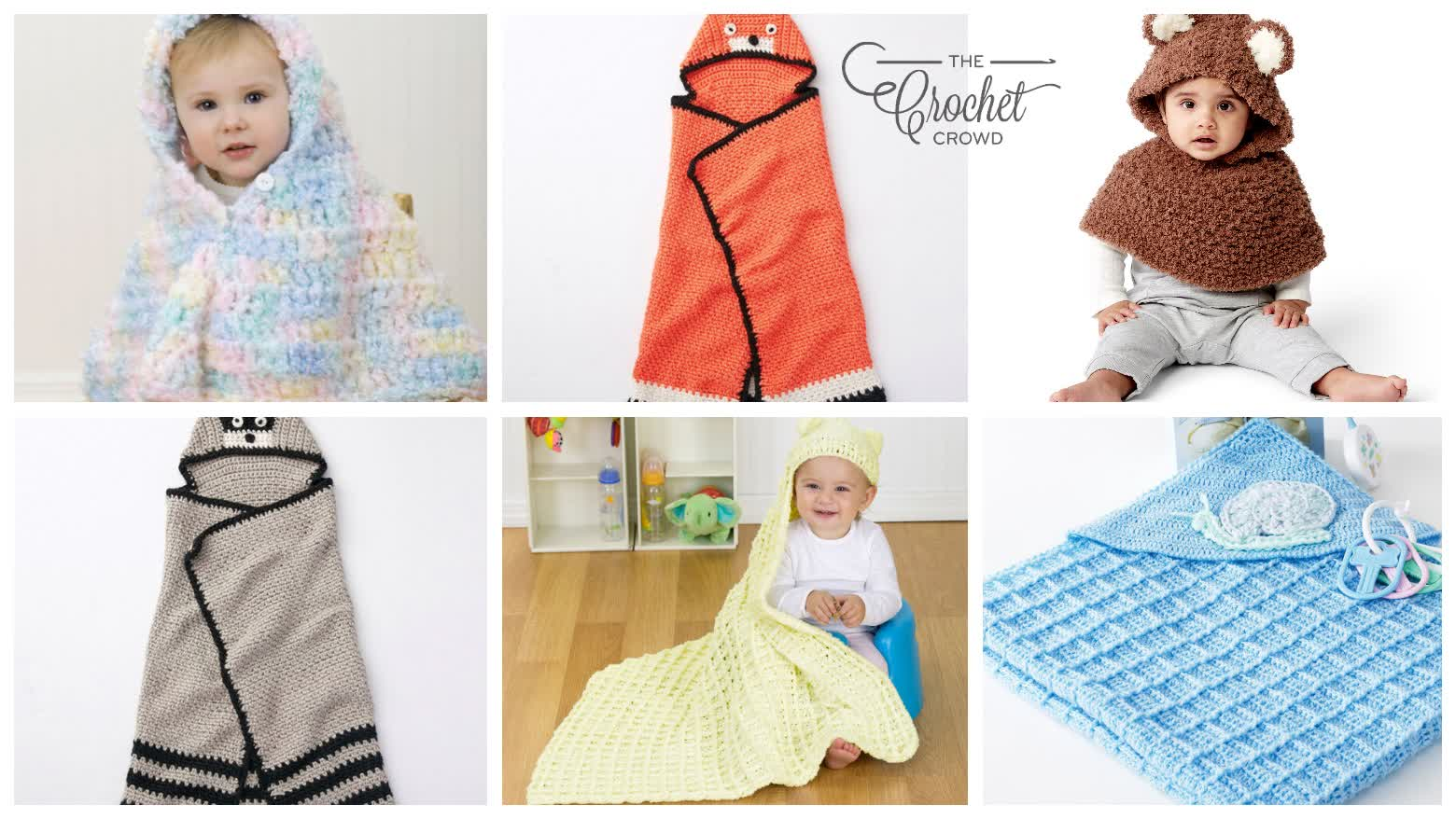 6 Crochet Hooded Poncho & Blanket Patterns