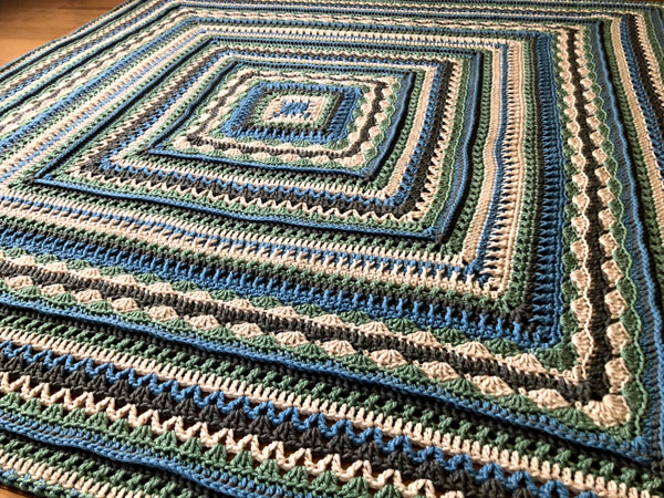 Crochet Healing Stitches Afghan by Jeanne Steinhilber