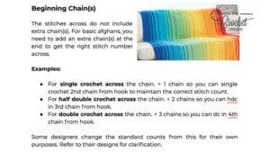 Beginning Chain Counts