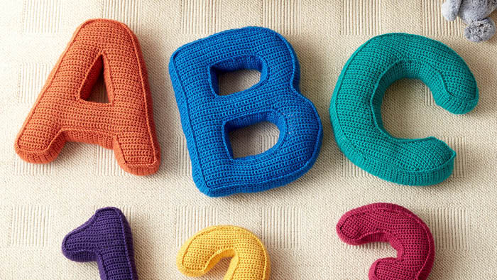 Crochet Alphabet and Number Pillow Patterns