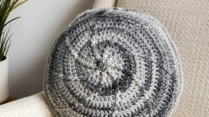 Crochet B-Spoked Pillow