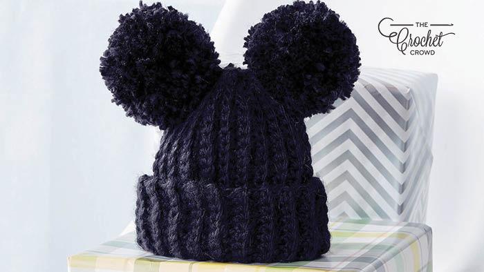 Crochet Baby Pom Pom Hat Pattern