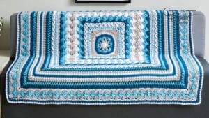 Crochet Better Together Afghan Blue