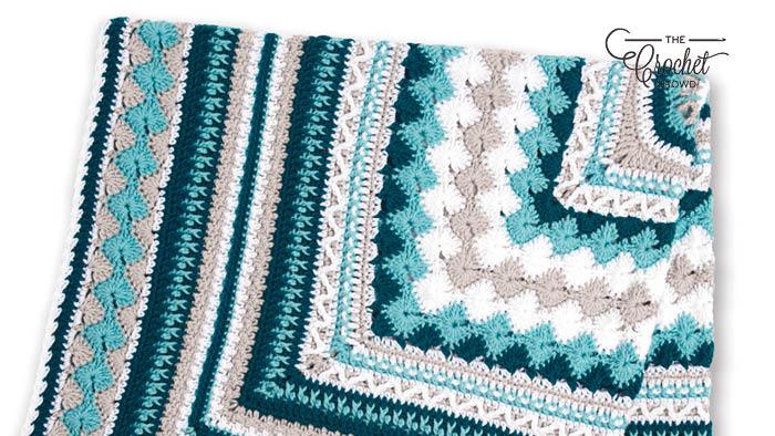 Crochet Better Together Afghan Folded