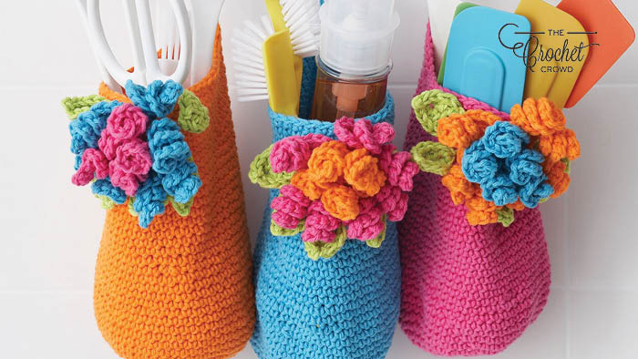 Crochet Bouquet Basket Patterns