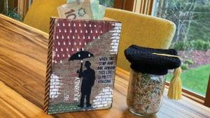 Crochet Graduate Gift Jar