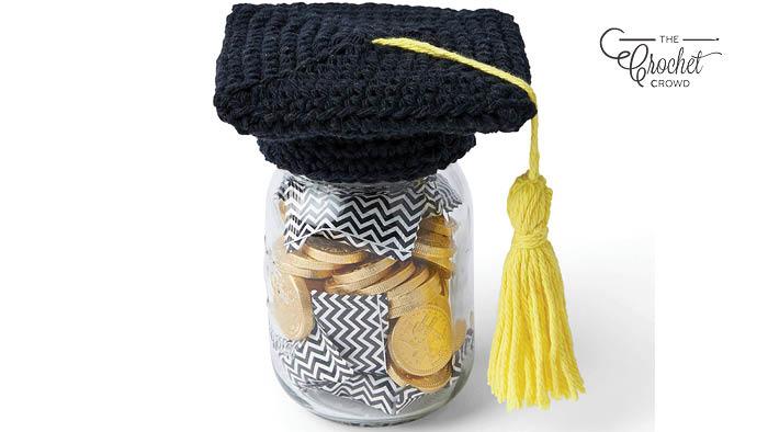 Crochet Graduate Gift Jar Pattern