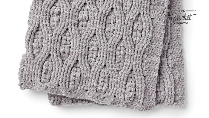 Crochet Misty Vines Cable Baby Blanket