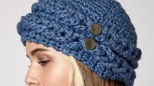 Crochet Mock Cable Hat