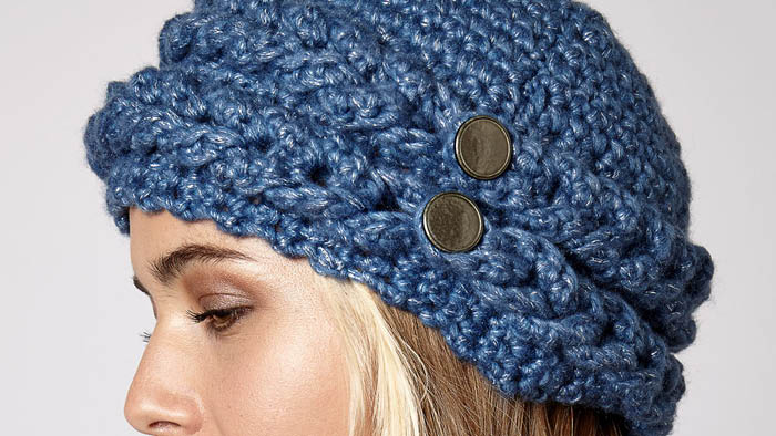 Crochet Mock Cable Hat Pattern