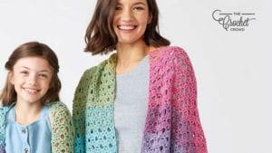 Crochet Mum and Me Shawl