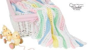 Crochet Quick Stripes Baby Blanket