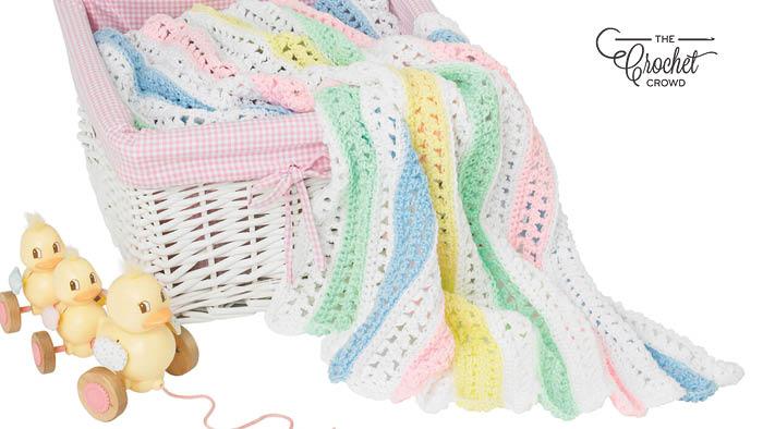 Crochet Quick Stripes Baby Blanket Pattern