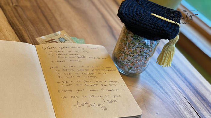 Graduate Gift Jar with Recipe