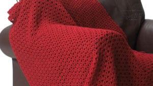 Bernat Crochet Red Blanket