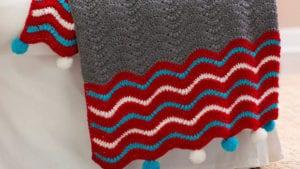 Crochet Dashing Holiday Throw