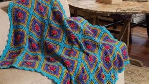 Crochet Festive Squares Throw