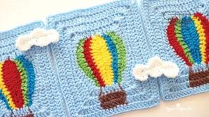 Crochet Hot Air Balloon Blanket